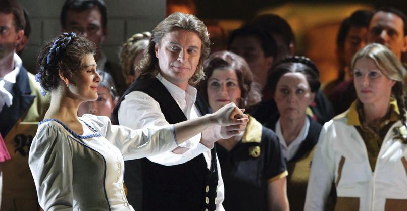 Lohengrin Klaus Florian Vogt (Lohengrin), Anja Harteros (Elsa von Brabant), Chor der Bayerischen Staatsoper